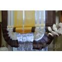 00450 Roletka + plexi brązowe boki żółty środek