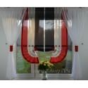 00457 Komplet: roletka z plexi i firanki boczne