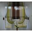 00483 Komplet: roletka z plexi i firanki boczne