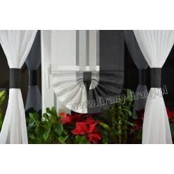00496 Komplet: roletki-wąskie z plexi i firanki boczne