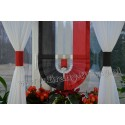 00497 Komplet: roletka-wąska z plexi i firanki boczne