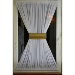 """00517 Firana - zazdrostka na okno dachowe z opaską - """"złota"""" satyna"""
