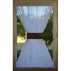 00518 Firana - zazdrostka na okno dachowe z opaską - fioletowosrebrny żakard