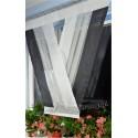 00546 Panel V-ka z plexi Czarne/Białe Boki