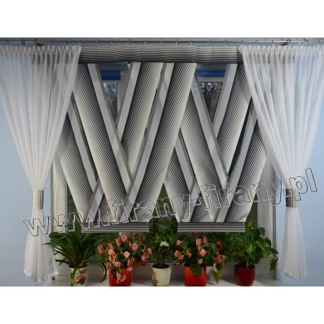 00564 komplet panele V-ki z plexi + zasłonki N.Ż.Czarno Perłowy