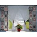 00596 Komplet: 2 panele z plexi i firana NIETOPERZ