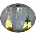 00644 Komplet: panel V-ka Biała z plexi i firanki boczne