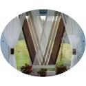 00655 Komplet: panel V-ka z plexi i firanki boczne