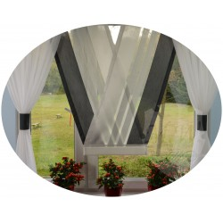 00658 Komplet: panel V-ka z plexi i firanki boczne