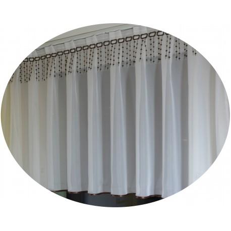 00717 Firana kontry + Gipiura Brąz /10cm wys.od 60cm do 100cm