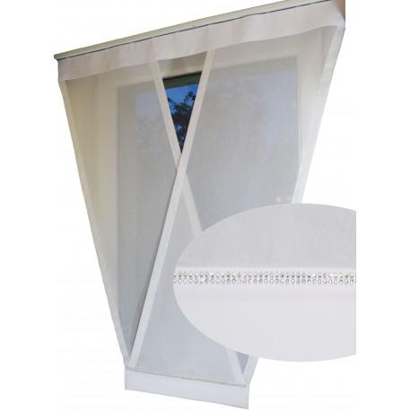 00724 Panel V-ka z plexi Biała + KRYSZTAŁY