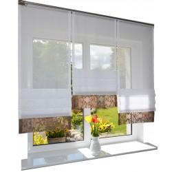 00777 Panel zakładkowy z Brązowa listwą i plexi