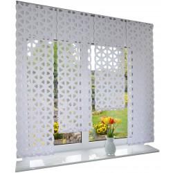 00778 Panel prosty Biały Ażur Blink z plexi