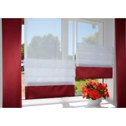 00792 Panele zakładkowe z ciemnoczerwoną listwą i 2 zasłonki