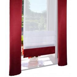 00793 Panel zakładkowy z ciemnoczerwoną listwą i 2 zasłonki